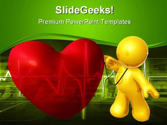 Heart And Doctor Medical PowerPoint Templates And PowerPoint Backgrounds 0611