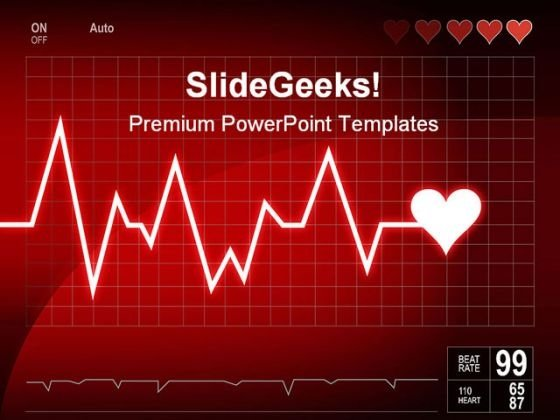 Heart Beat Medical PowerPoint Template 1110