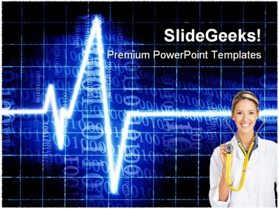 Heart Beat Medical PowerPoint Themes And PowerPoint Slides 0711
