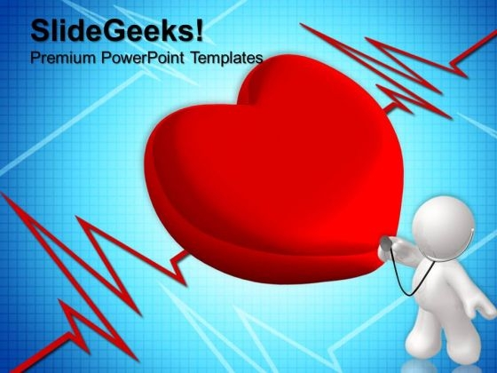 Heart Cardiogram Health Medical PowerPoint Templates And PowerPoint Themes 0712