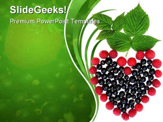 Heart Of Berries Nature PowerPoint Themes And PowerPoint Slides 0311