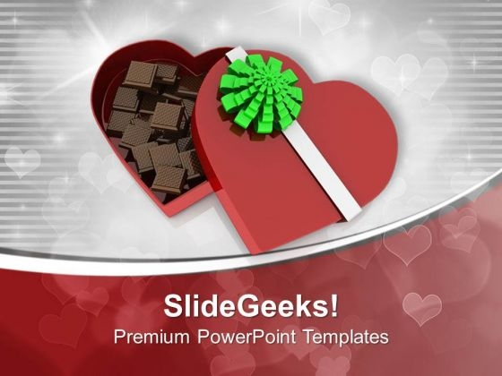 Heart Shaped Gift Box PowerPoint Templates Ppt Backgrounds For Slides 0713