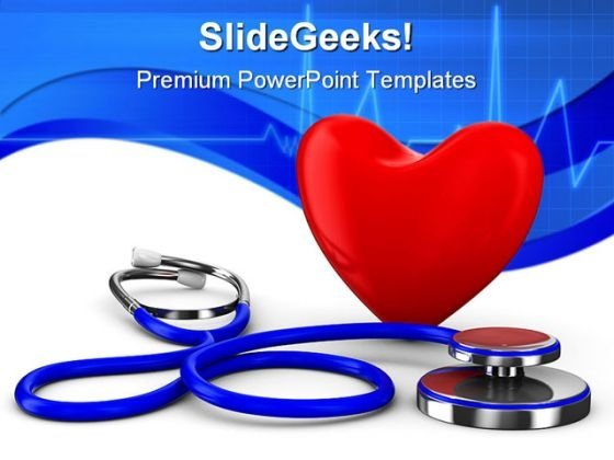 Heart Stethoscope Medical PowerPoint Templates And PowerPoint Backgrounds 0211