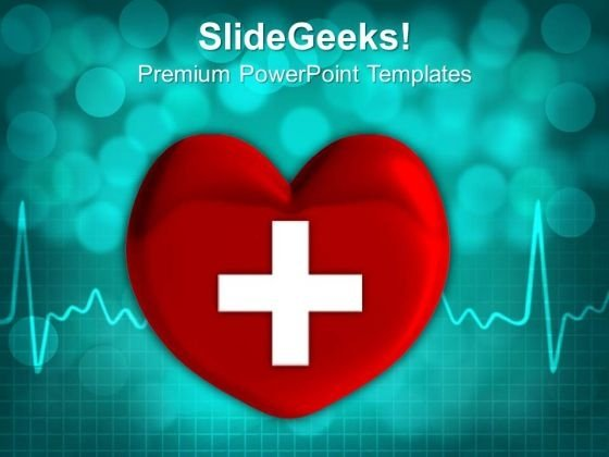 Heart With Cross Sign PowerPoint Templates And PowerPoint Themes 1012