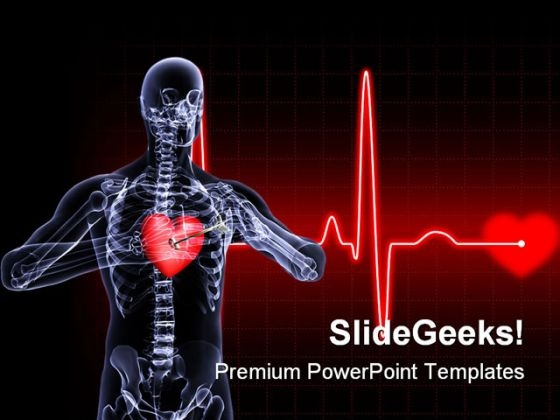 Heart Xray Medical PowerPoint Themes And PowerPoint Slides 0811