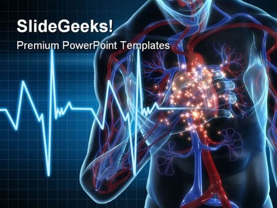 Heartattack Medical PowerPoint Template 1110