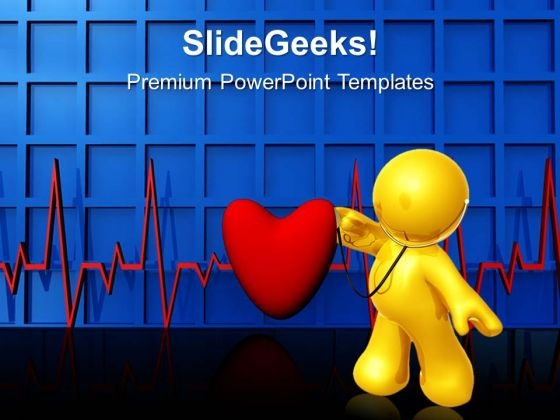 Heartbeat Medical PowerPoint Templates And PowerPoint Themes 0512