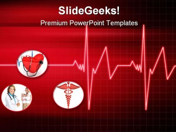 Heartbeat Medical PowerPoint Themes And PowerPoint Slides 0811