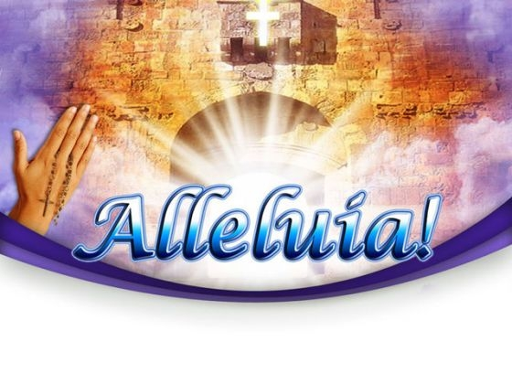 Heaven Alleluia Religion PowerPoint Themes And PowerPoint Slides 0211