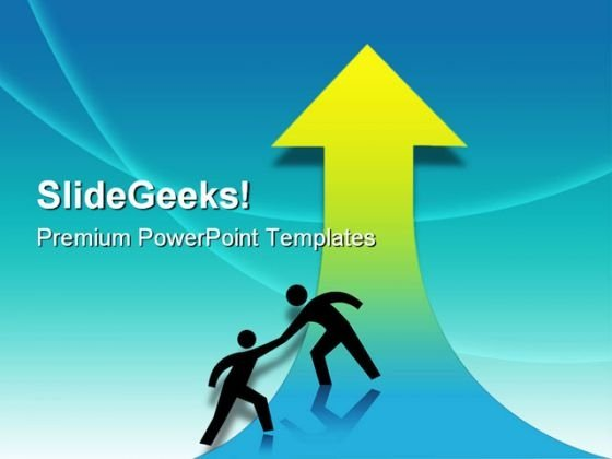 Help Business PowerPoint Template 1010