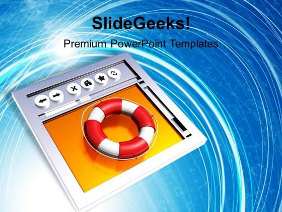Help On Web Internet PowerPoint Templates And PowerPoint Themes 1112