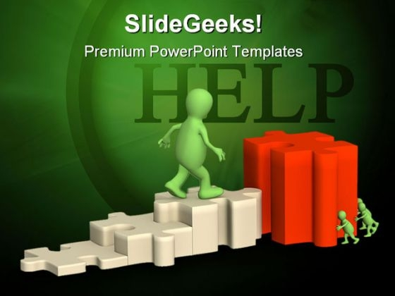 Help Puzzle PowerPoint Template 0510