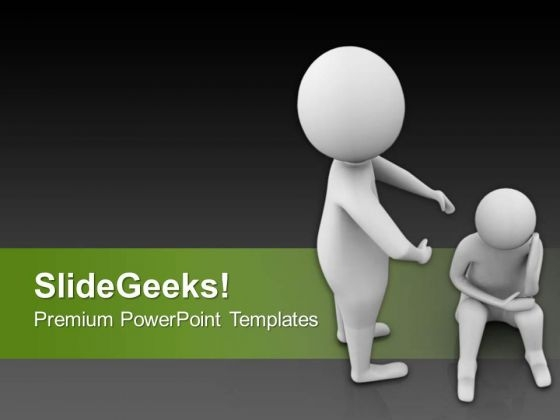 help the sad peoples and make them happy powerpoint templates ppt