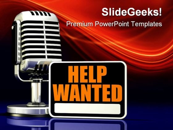 Help Wanted Metaphor PowerPoint Templates And PowerPoint Backgrounds 0311