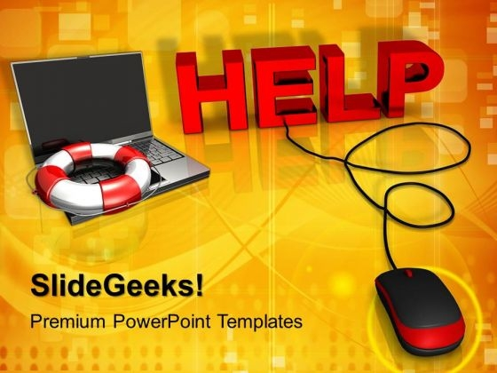 Help With Computer Mouse PowerPoint Templates And PowerPoint Themes 1012