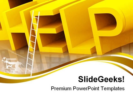 Help With Ladder Business PowerPoint Templates And PowerPoint Backgrounds 0711