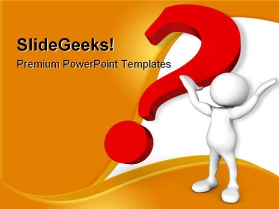 Help With Question Mark Business PowerPoint Themes And PowerPoint Slides 0511