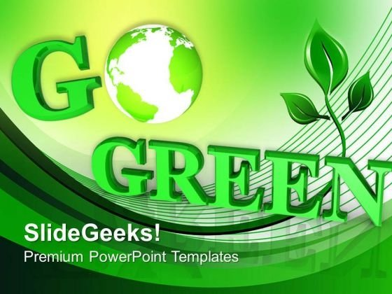 Helping The World Go Green PowerPoint Templates Ppt Backgrounds For Slides 0313