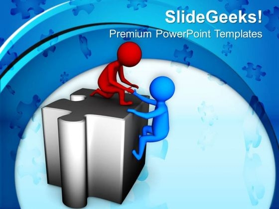 Helping To Find The Business Solution PowerPoint Templates Ppt Backgrounds For Slides 0713