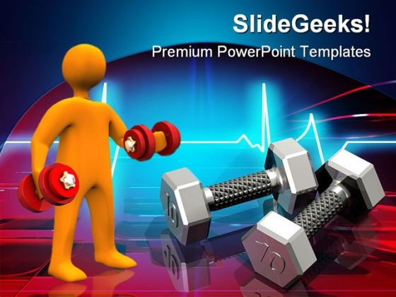 High Tech Work Out Health PowerPoint Themes And PowerPoint Slides 0311