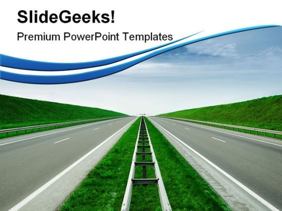 Highway Travel PowerPoint Templates And PowerPoint Backgrounds 0811
