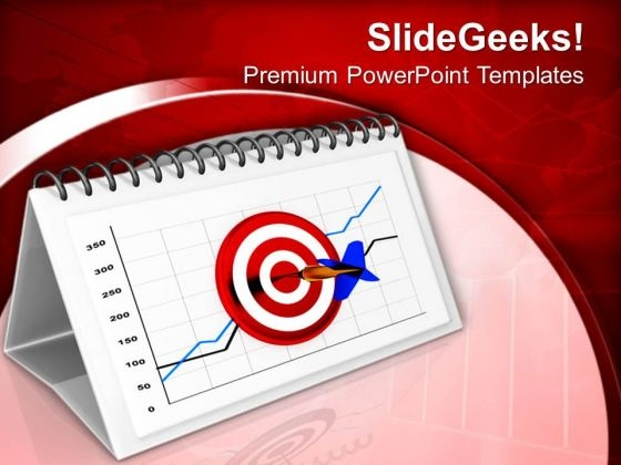 Hit All Business Target For Month PowerPoint Templates Ppt Backgrounds For Slides 0713