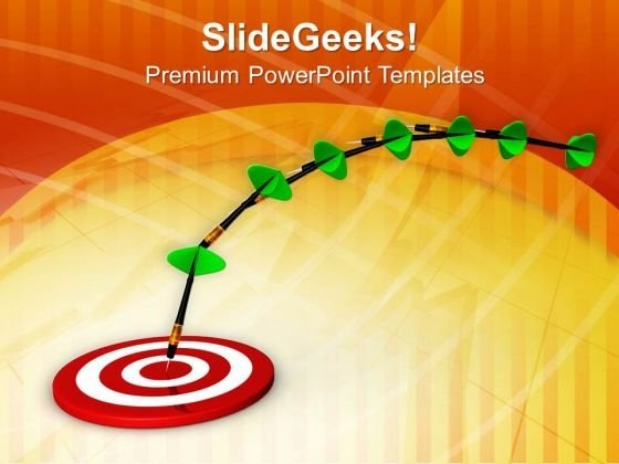 Hit Target Day By Day PowerPoint Templates Ppt Backgrounds For Slides 0713
