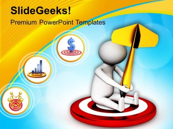 Hit The Target And Complete The Task PowerPoint Templates Ppt Backgrounds For Slides 0713