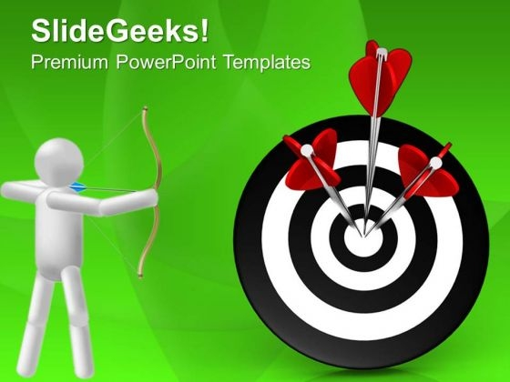 Hit The Target Business Growth PowerPoint Templates Ppt Backgrounds For Slides 0513