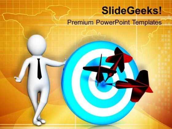 Hit The Target In Business And Marketing PowerPoint Templates Ppt Backgrounds For Slides 0613