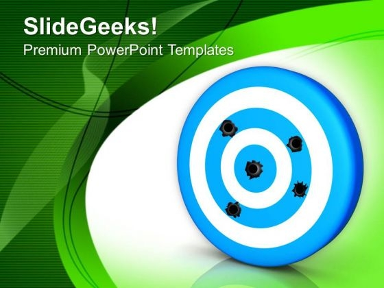 Hit The Target In Business PowerPoint Templates Ppt Backgrounds For Slides 0413