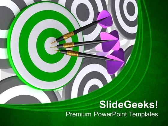 Hit The Target PowerPoint Templates Ppt Backgrounds For Slides 0513