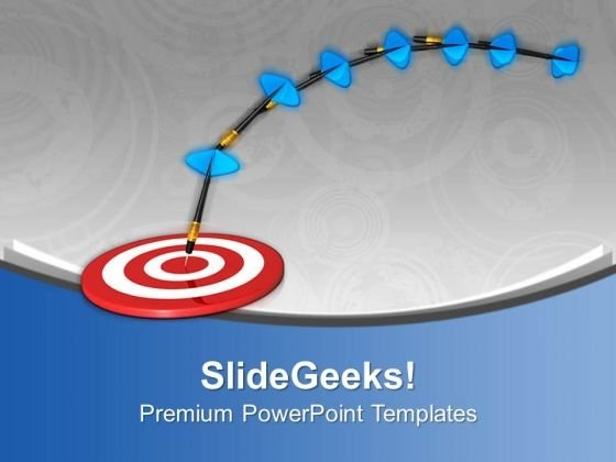 Hit The Target With Right Move PowerPoint Templates Ppt Backgrounds For Slides 0613