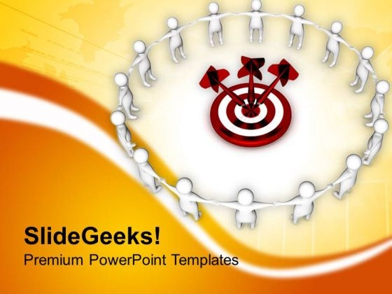 Hit Your Business Target For Team Benifit PowerPoint Templates Ppt Backgrounds For Slides 0713