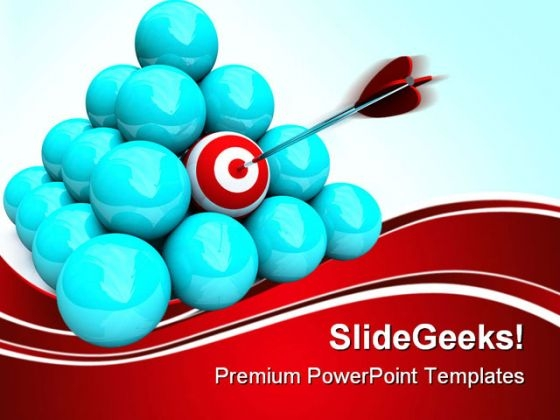 Hitting The Target Marketing PowerPoint Themes And PowerPoint Slides 0511