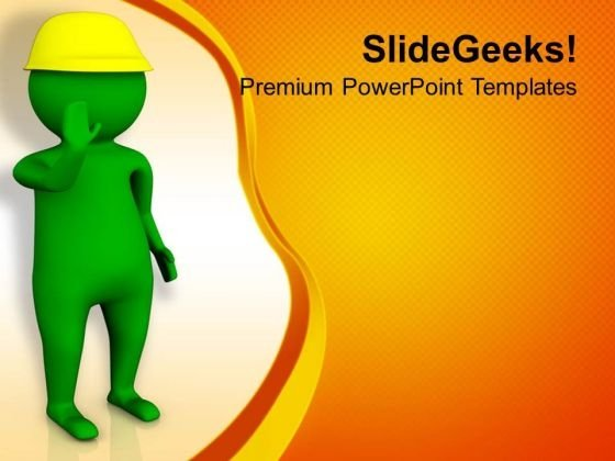 Hold For The Safety Sign Powerpoint Templates Ppt Backgrounds For