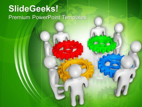 Hold Right Gears For Proccess PowerPoint Templates Ppt Backgrounds For Slides 0713