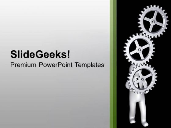 Hold The Right Gear For Good Process PowerPoint Templates Ppt Backgrounds For Slides 0613