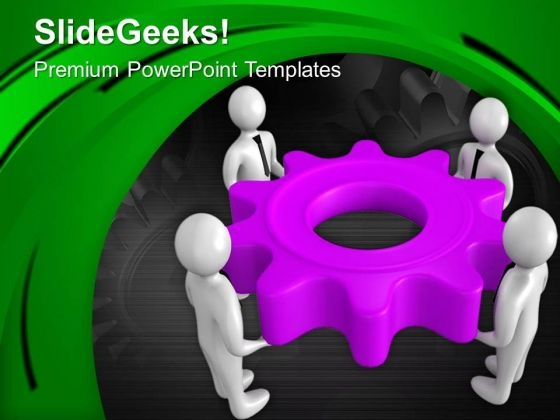 Hold The Right Process To Gear Business PowerPoint Templates Ppt Backgrounds For Slides 0613