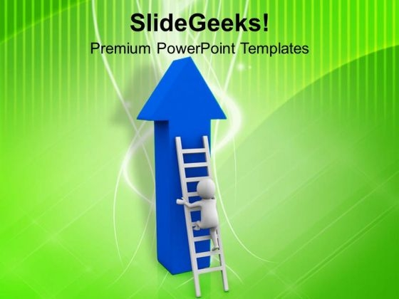 Hold The Stairs For Success PowerPoint Templates Ppt Backgrounds For Slides 0713
