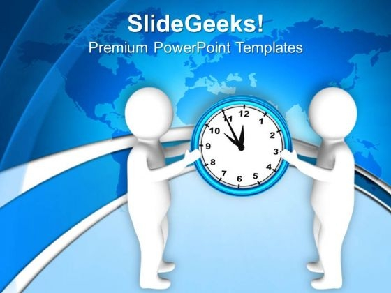 Hold The Time For Business Growth PowerPoint Templates Ppt Backgrounds For Slides 0713
