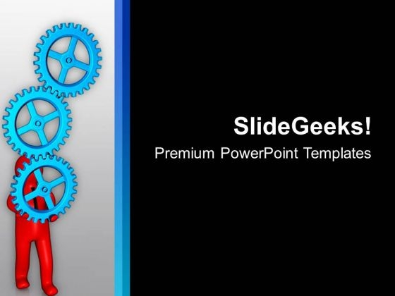 Holding Gears For Business PowerPoint Templates Ppt Backgrounds For Slides 0813