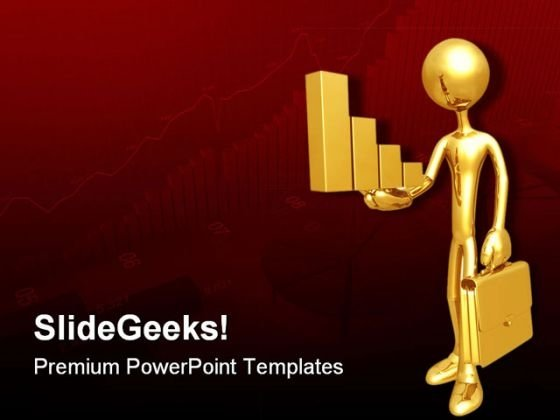 Holding Golden Bar Business PowerPoint Templates And PowerPoint Backgrounds 0511