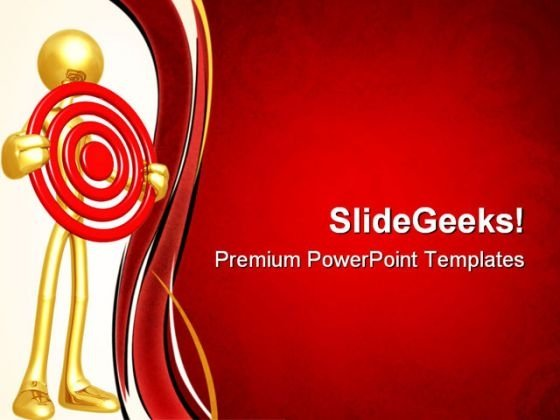 Holding Target Business PowerPoint Themes And PowerPoint Slides 0711