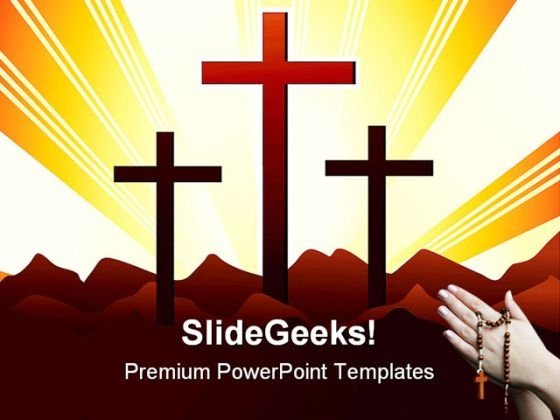 Holly Cross Religion PowerPoint Templates And PowerPoint Backgrounds 0511