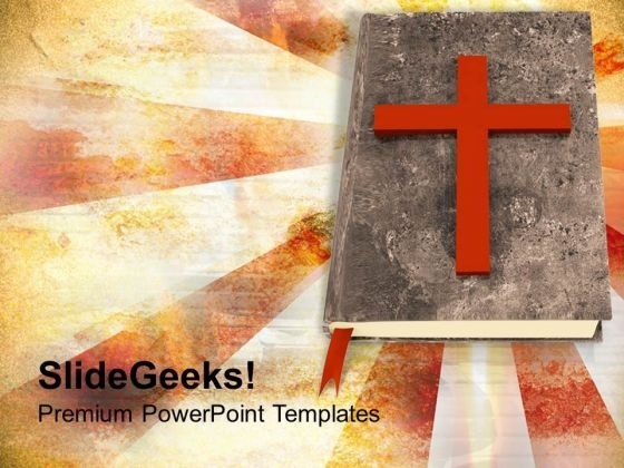 Holy Bible And Cross Faith Religion PowerPoint Templates Ppt Backgrounds For Slides 1212