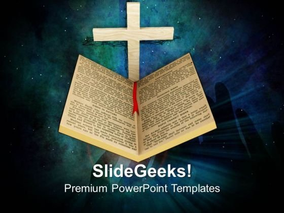 Holy Bible And Cross Religion PowerPoint Templates Ppt Backgrounds For Slides 1212