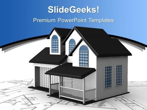 Home Construction Plans Real Estate PowerPoint Templates Ppt Backgrounds For Slides 1212