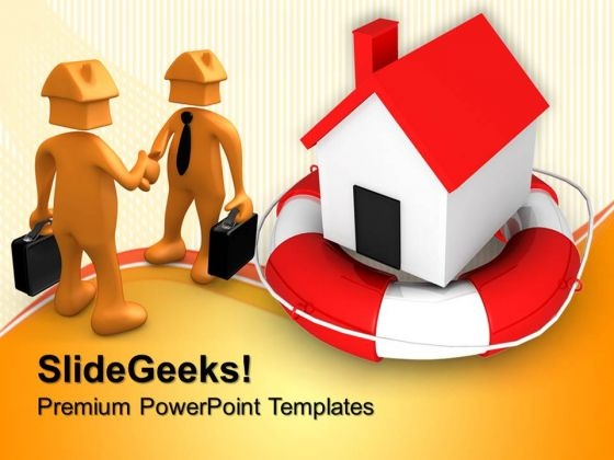 Home In Rescue Real Estate PowerPoint Templates And PowerPoint Themes 0812