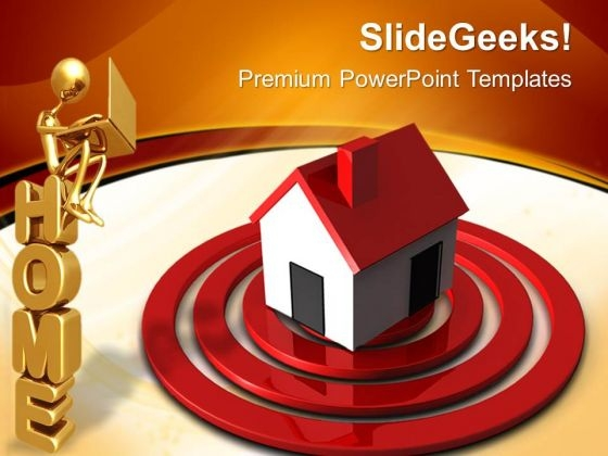 Home On Target Real Estate PowerPoint Templates And PowerPoint Themes 0712